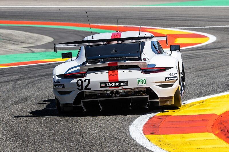 #92 Porsche GT Team qualifying at Spa-Francorchamps, 2021