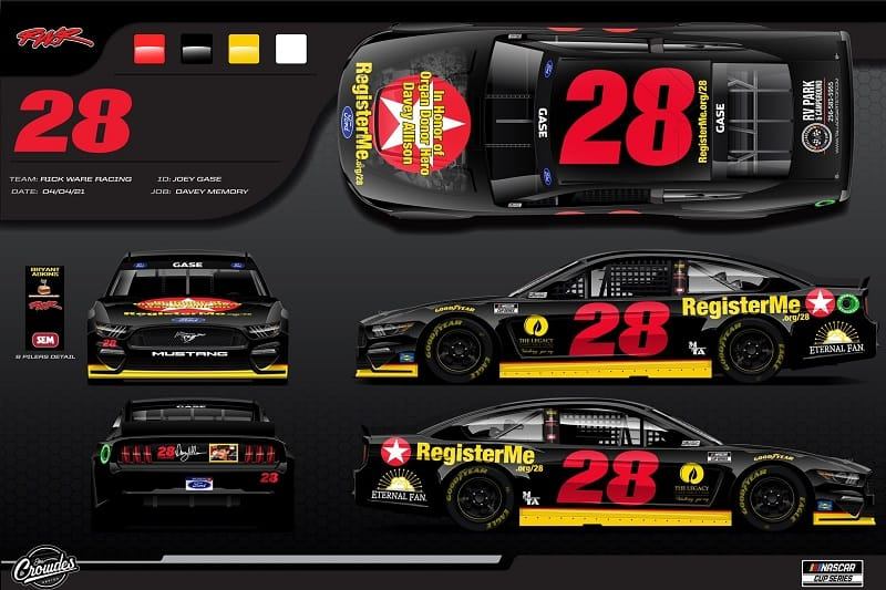 Joey Gase to drive #28 Davey Allison tribute in Cup, Xfinity Talladega races - The Checkered Flag