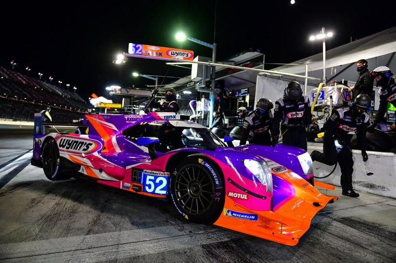 PR1/Mathiasen Motorsport in the pit lane at Rolex 24 at Daytona, 2021
