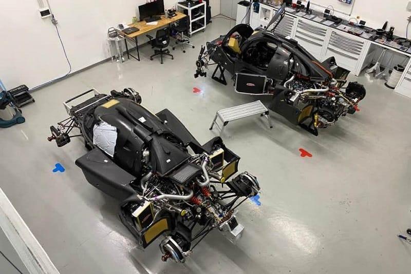 Scuderia Cameron Glickenhaus two 007 LMH in garage ahead of testing
