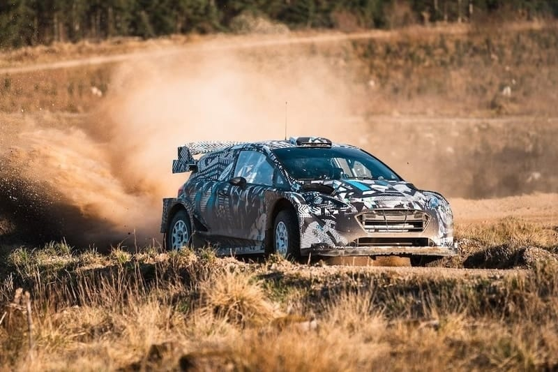 M-Sport testing its new Hybrid WRC Car