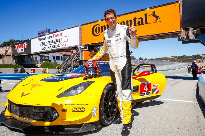 Oliver Gavin with Corvette Racing at Leguna Seca